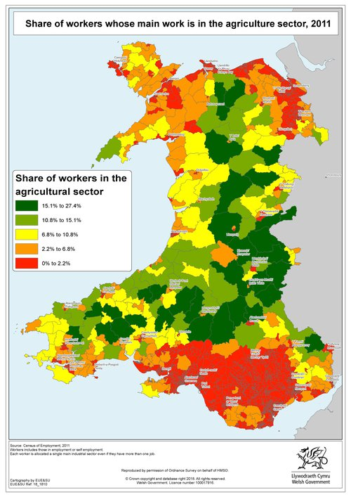 Agricultural Employment Map