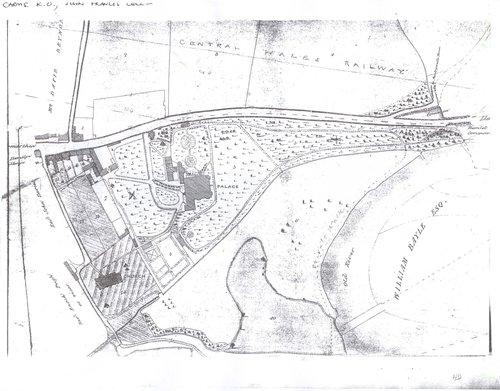 Bishops Park Abergwili Carmarthenshire 1843 map
