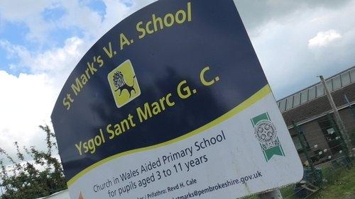 St Marks School Sign