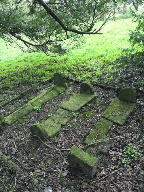 Graves at St Michael's Llanfihangel Abercowyn