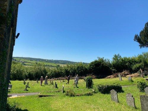 Llanddewi Velfrey churchyard